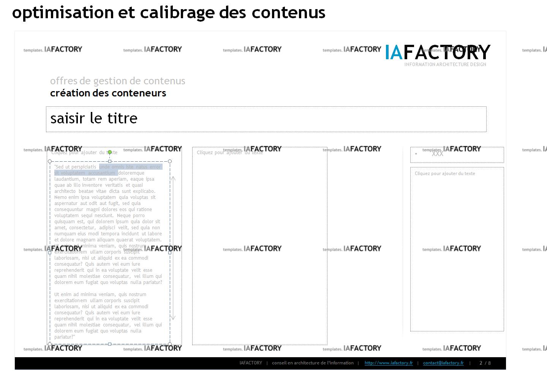 contenu - calibrage des contenus (http://templates.iafactory.fr) – fichier .ppt