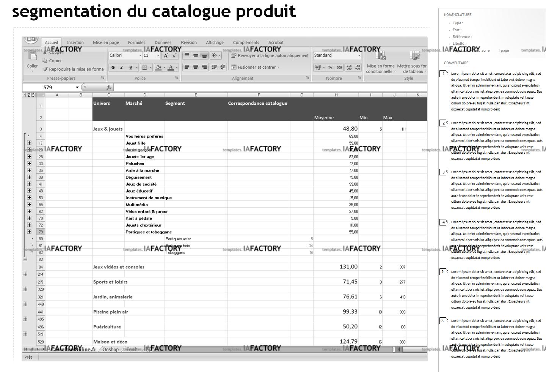 contenu - segmentation du catalogue (http://templates.iafactory.fr) – fichier .ppt