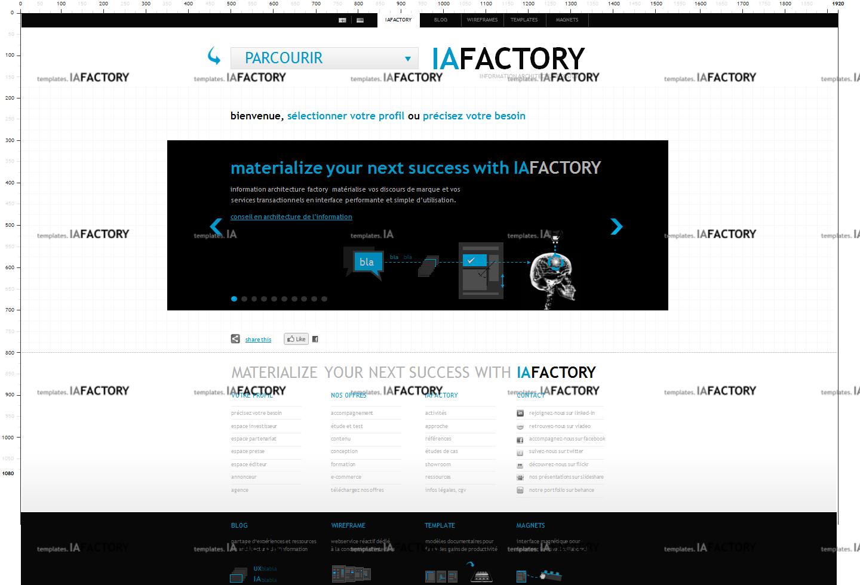 storyboard – storyboard haute-fidélité (http://templates.iafactory.fr) – fichier .ppt