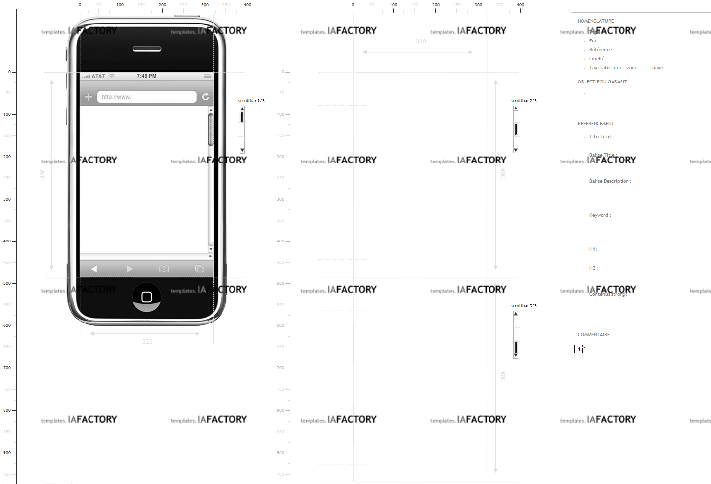 storyboard - iphone (http://templates.iafactory.fr) fichier .ppt