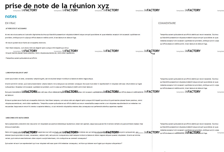 outils - prise de note réunion (http://templates.iafactory.fr) - fichier .ppt