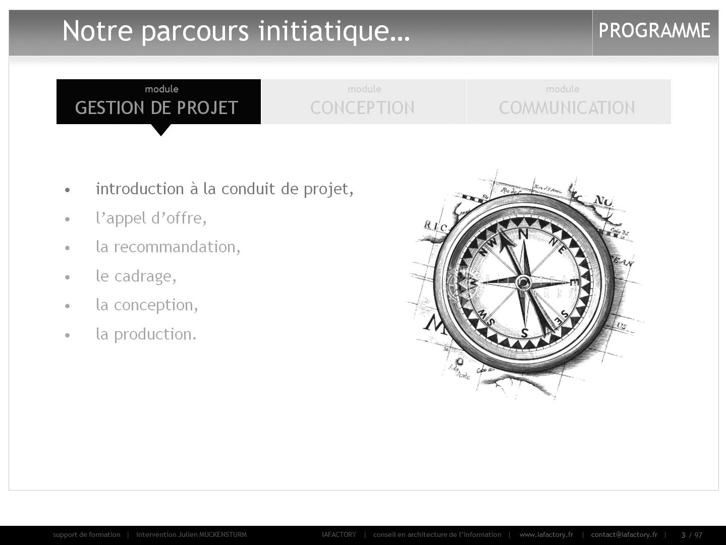 formation universitaire en gestion de projet – intro (programme)