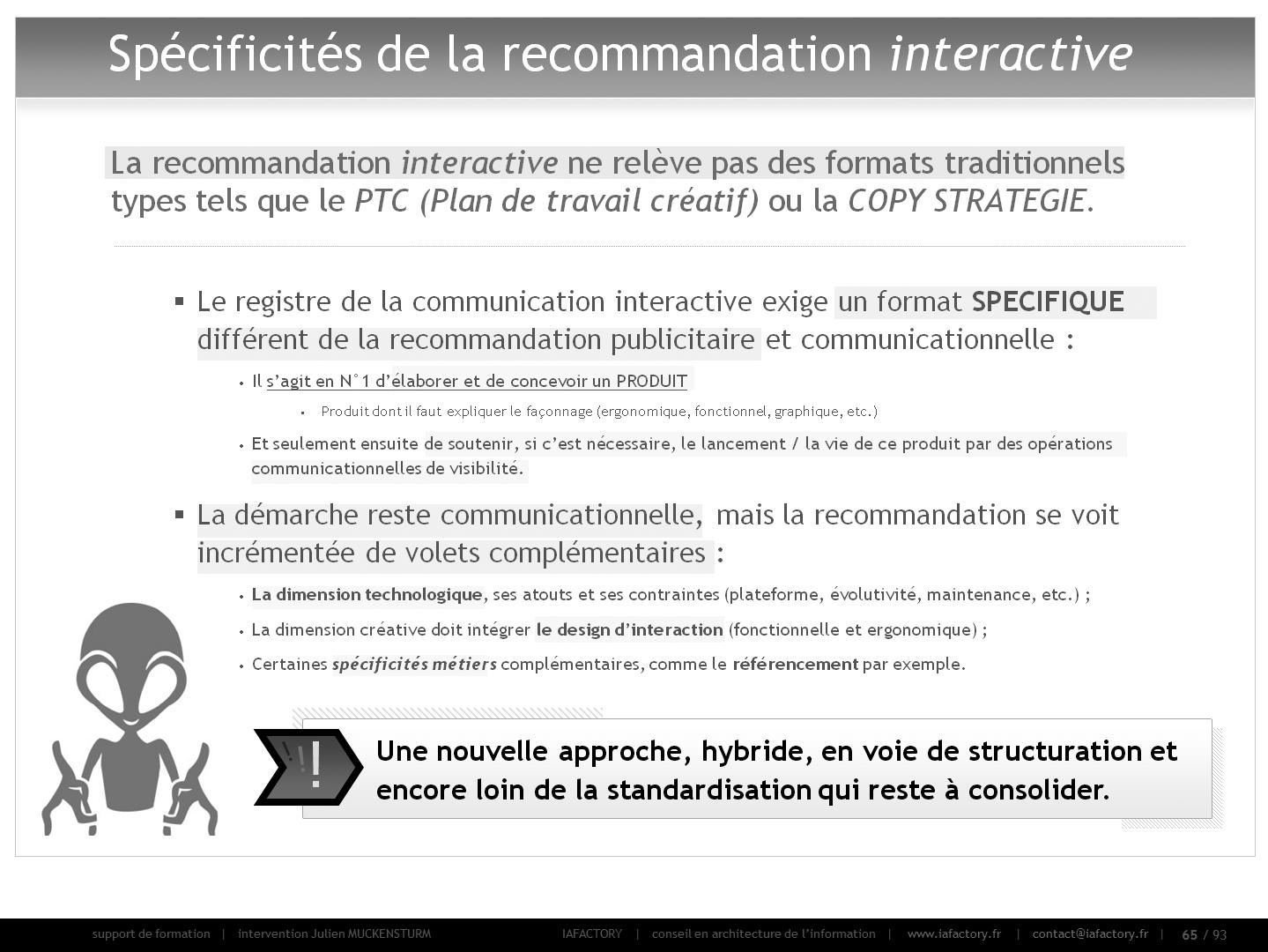 formation universitaire en gestion de projet – recommandation (spécificités)