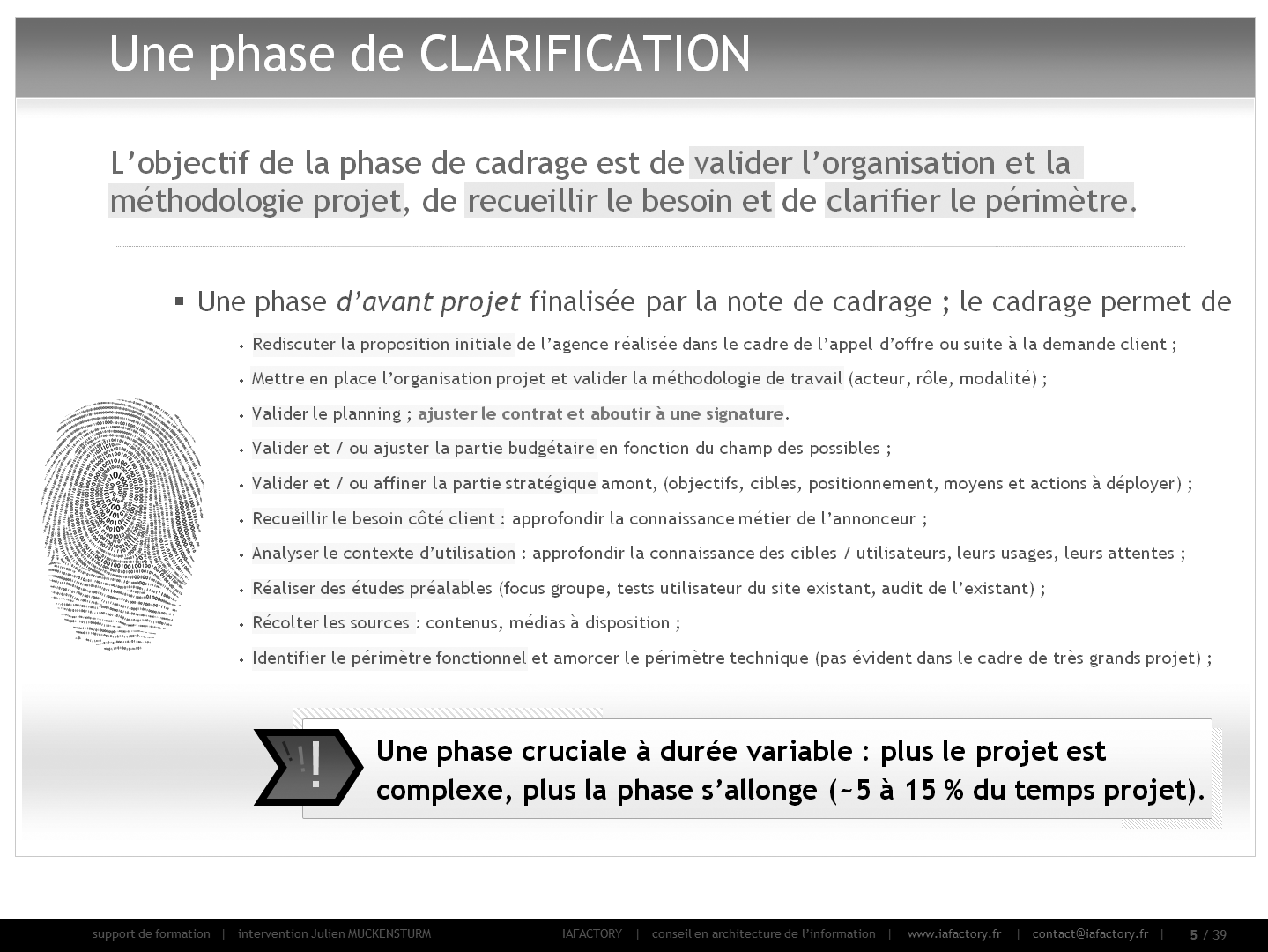 formation universitaire en gestion de projet – cadrage (objectif)