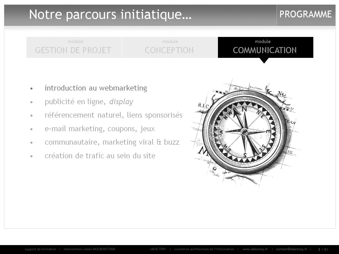formation universitaire en webmarketing : intro (programme)