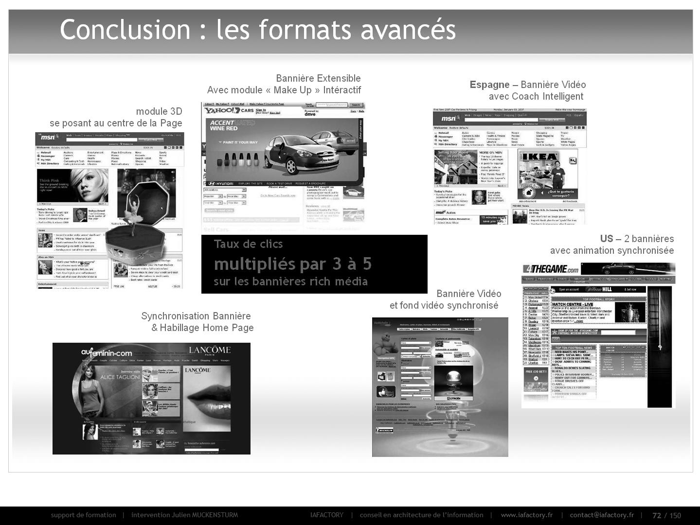 formation universitaire en webmarketing : publicité en ligne (formats avancés)