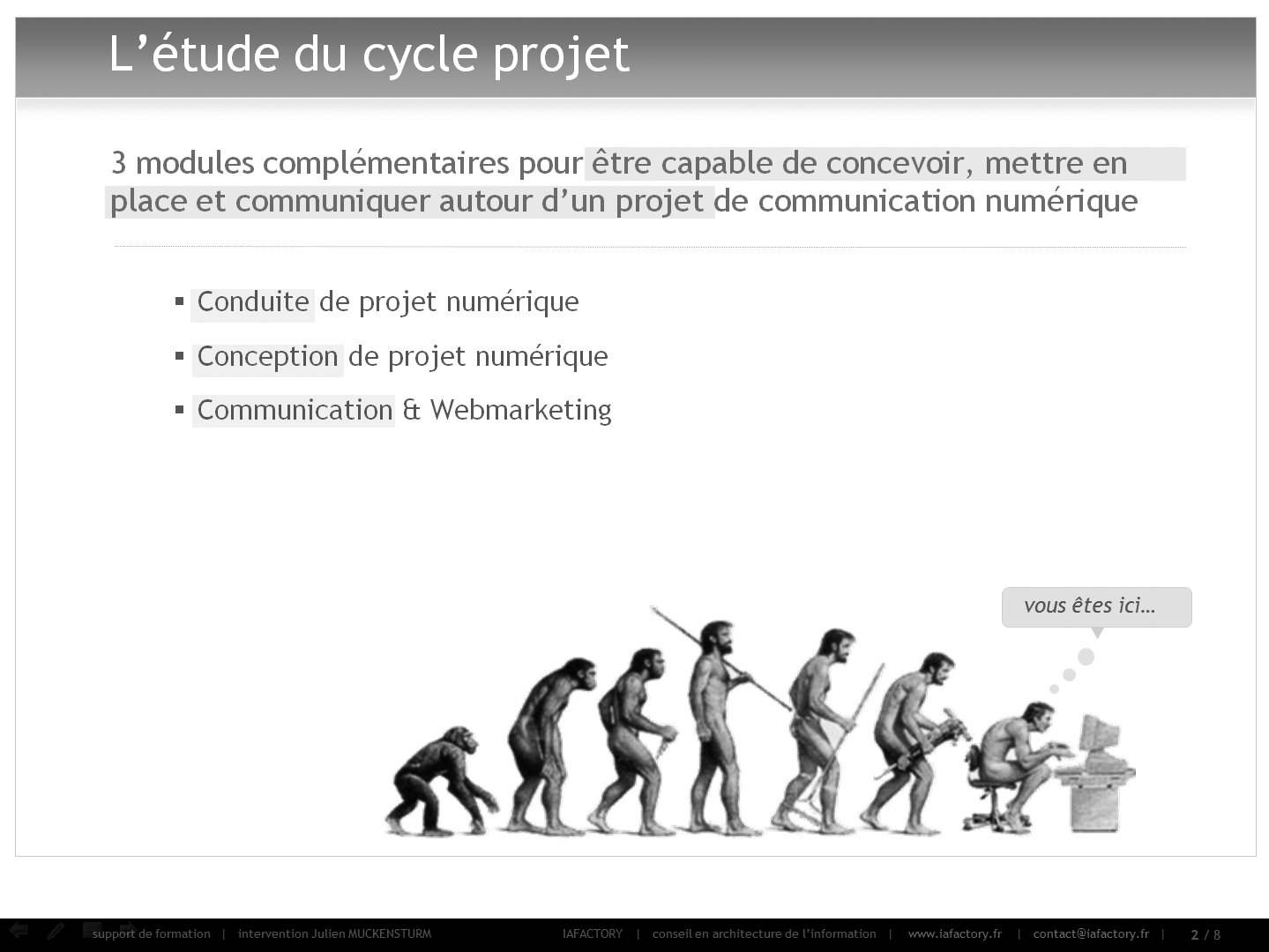 formation universitaire iafactory : le cycle projet