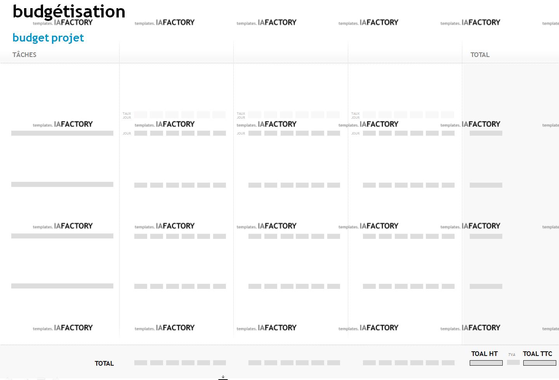 outils – budétisation (http://templates.iafactory.fr) – fichier .ppt
