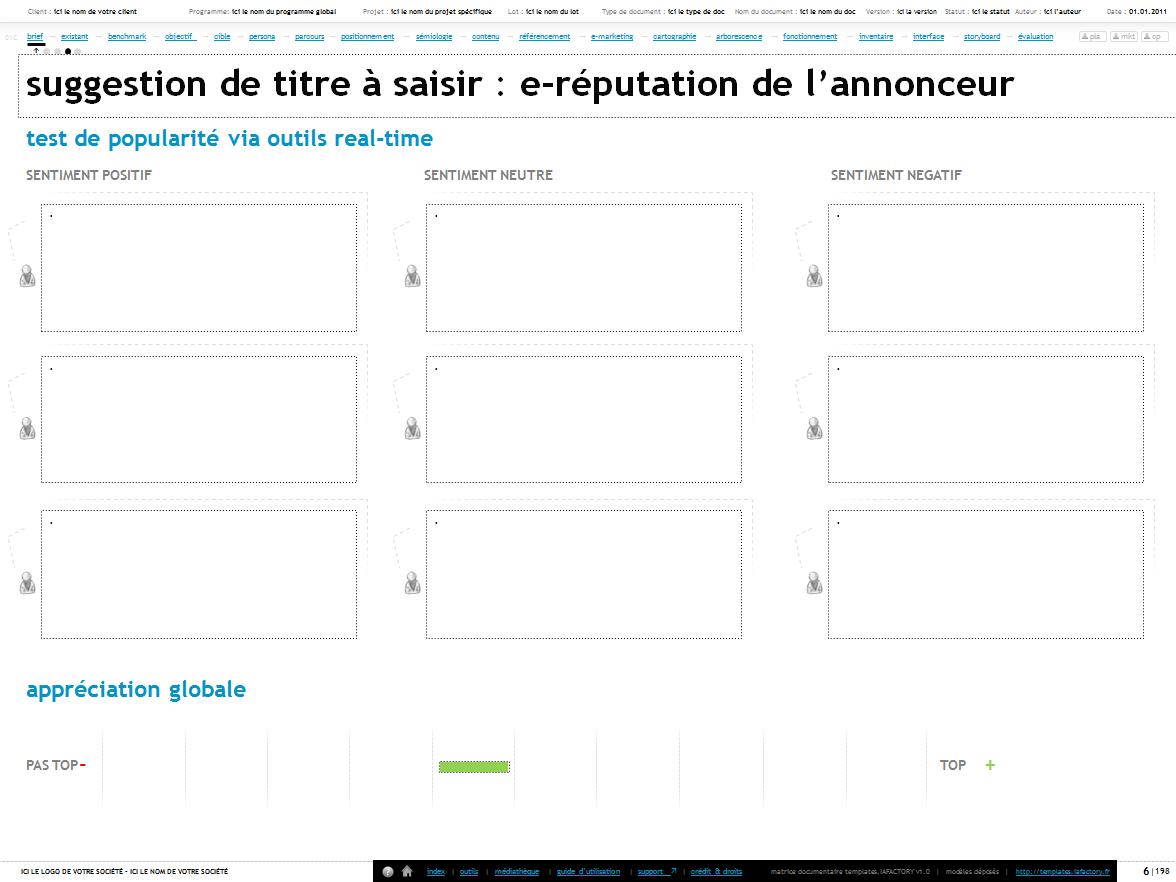 e-réputation - templates iafactory