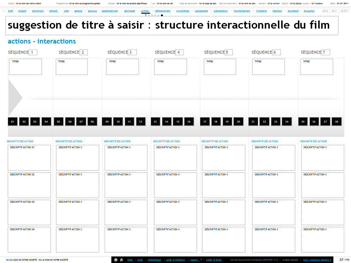 structure interactionnelle du film - templates iafactory