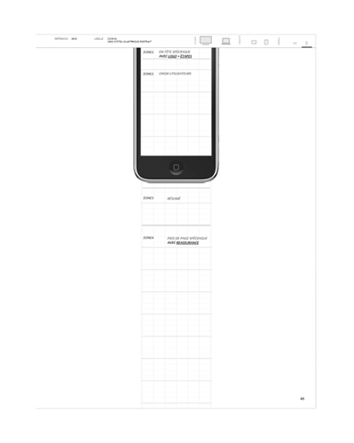 zoning, projection mobile portrait - processus de commande responsive