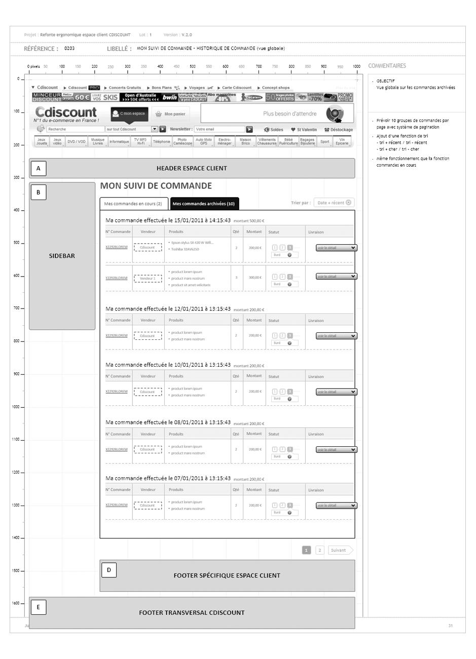 Etude de cas ux design d 39 exp rience utilisateur case stu - Cdiscount espace client suivi commande ...