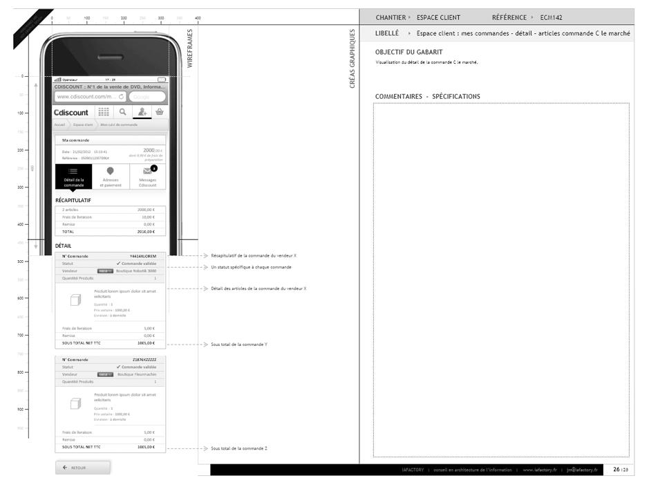 Etude de cas ux design d 39 exp rience utilisateur case stu - Cdiscount mon suivi de commande ...
