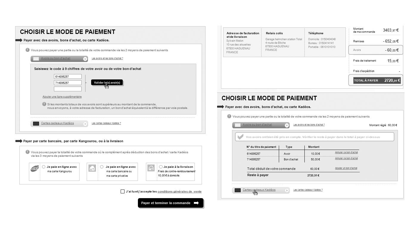 la redoute commande en ligne beautiful intgre aussi une de scan and buy permettant de scanner. Black Bedroom Furniture Sets. Home Design Ideas