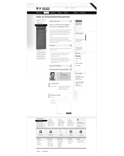 wireframe securite-routiere.gouv.fr, article - étude securite-routiere