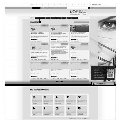 conception intranet loreal