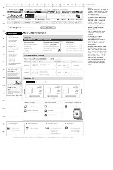 Sp cifications fonctionnelles ux design et conception d 39 interface iaf - Cdiscount espace client suivi commande ...