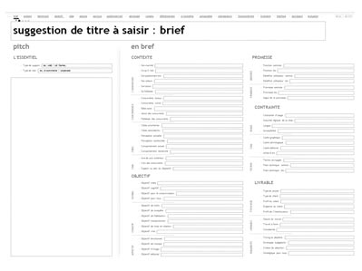exemple de brief projet web