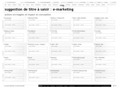 synergie emarketing et interface