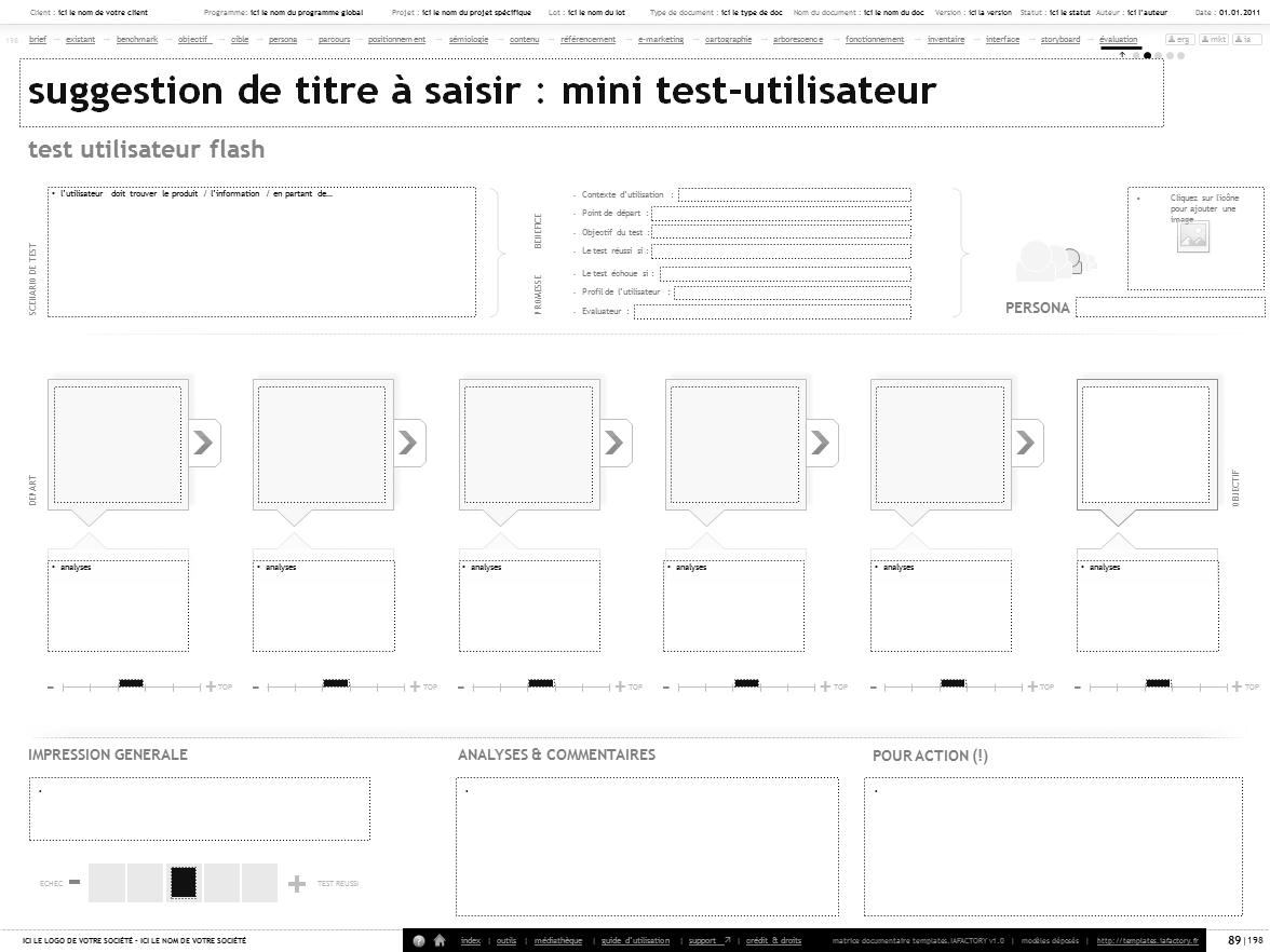 scenario de test utilisateur pour valuer l 39 ux pr parer un test utilisateur pour tester l. Black Bedroom Furniture Sets. Home Design Ideas