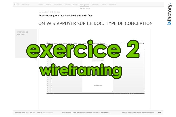 exercice ux design wireframing