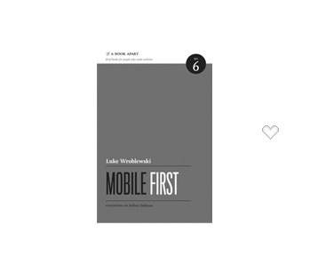 couverture livre mobile first luke wroblewski