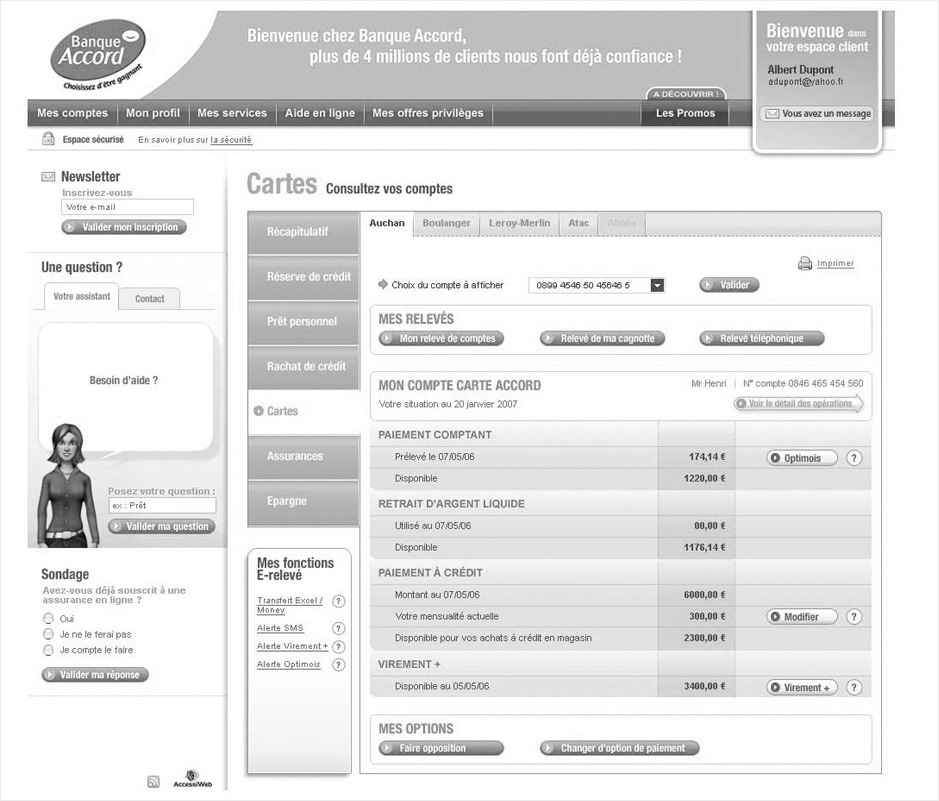 wireframe banque-accord