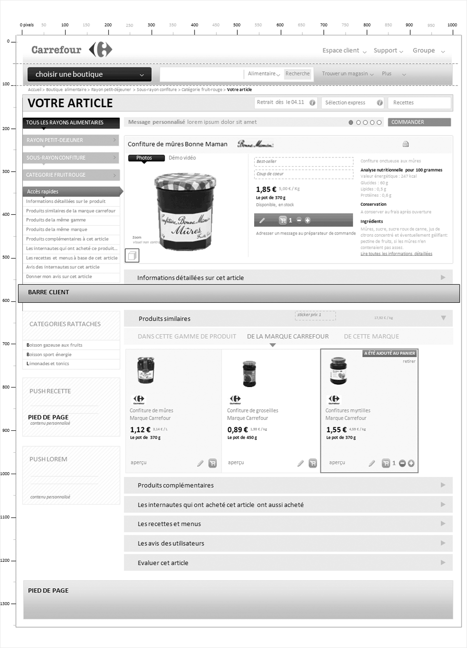 wireframe carrefour-drive