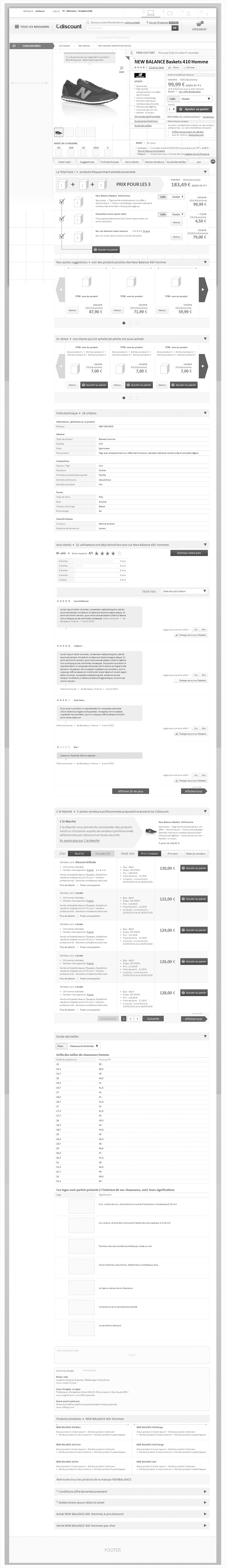 wireframe cdiscount-catalogue-responsive