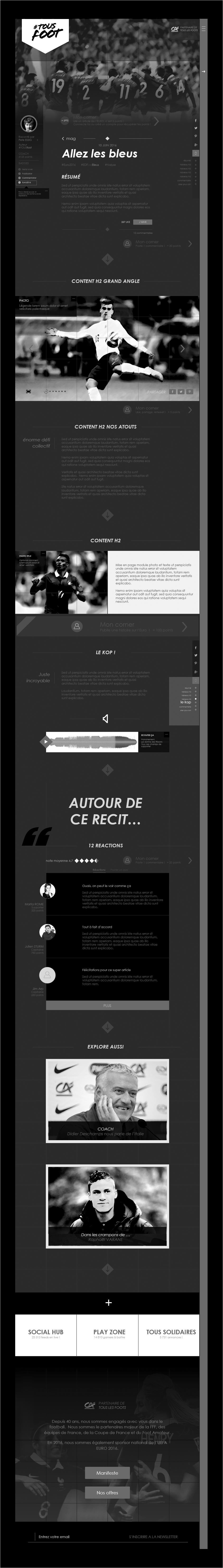 wireframe article magazine euro 2016 tous foot credit agricole