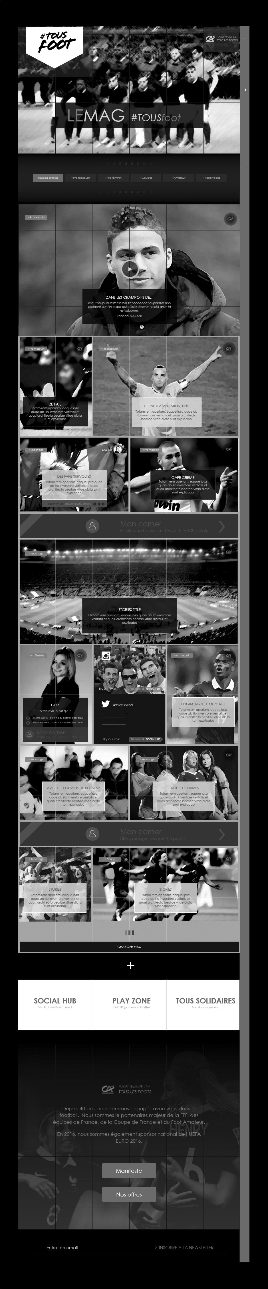 wireframe magazine euro 2016 tous foot credit agricole