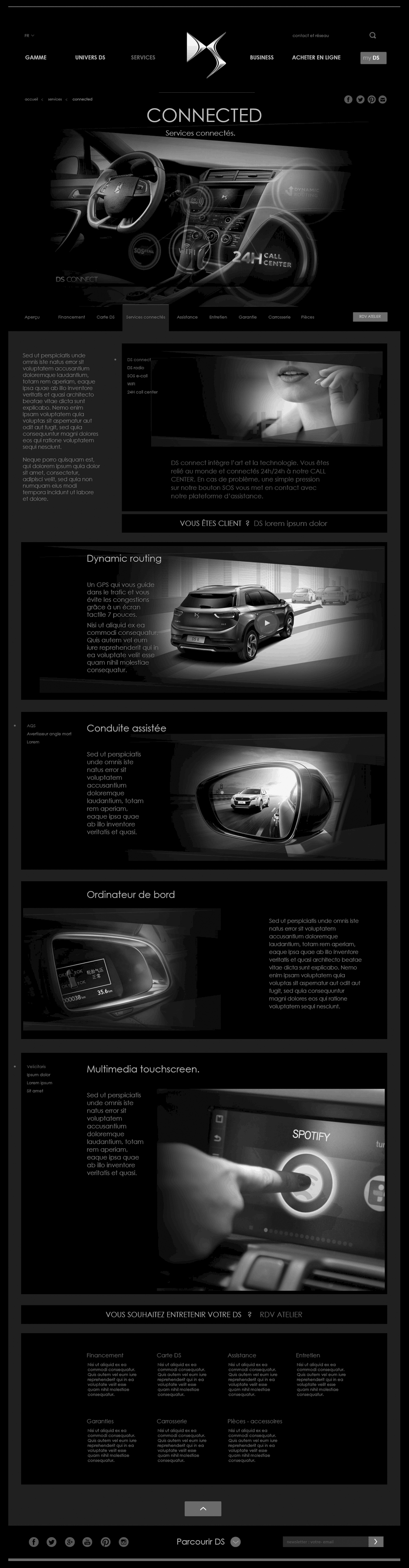 wireframe configurateur ds