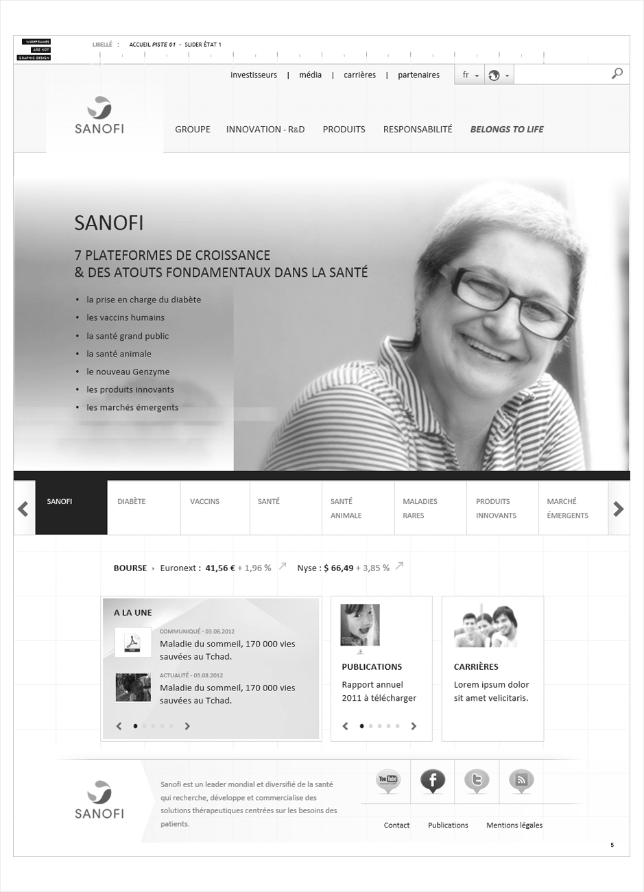 wireframe sanofi-corporate