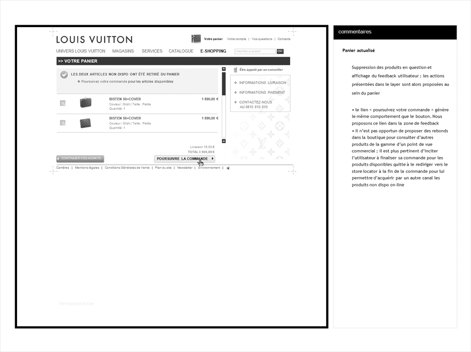 wireframe vuitton-checkout