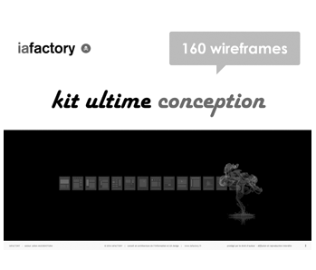 kit wireframing 160 écrans de wireframes