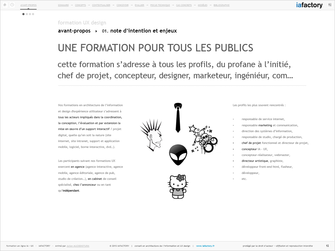 iafactory learn - profil ux
