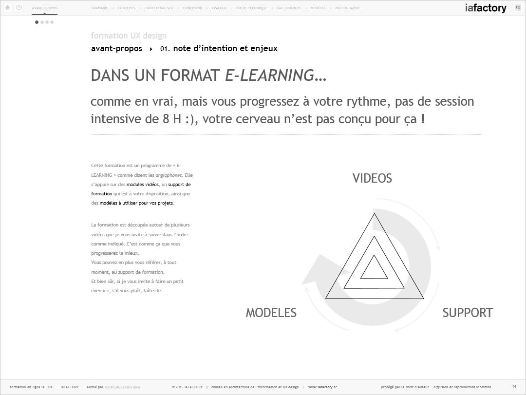 iafactory learn - modèles, vidéos, support