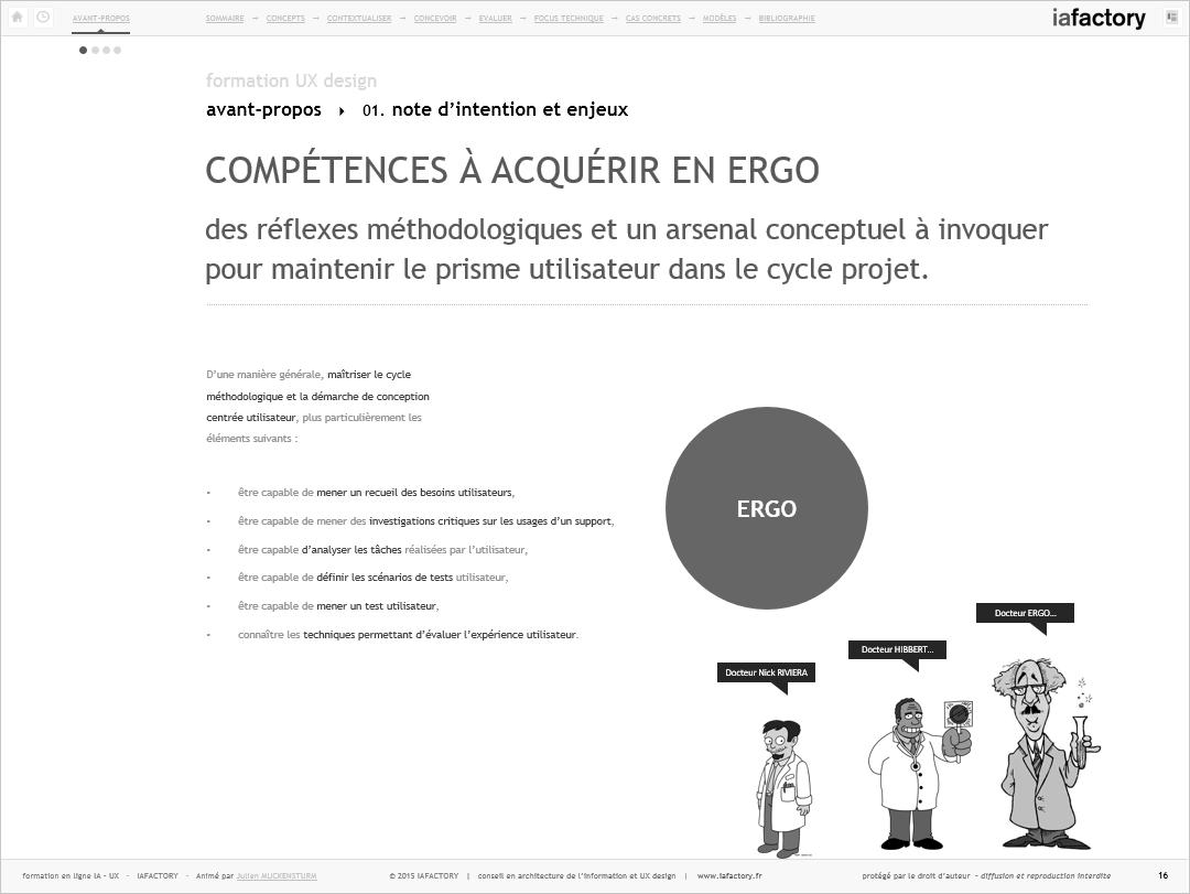 iafactory learn - compétences en ergonomie