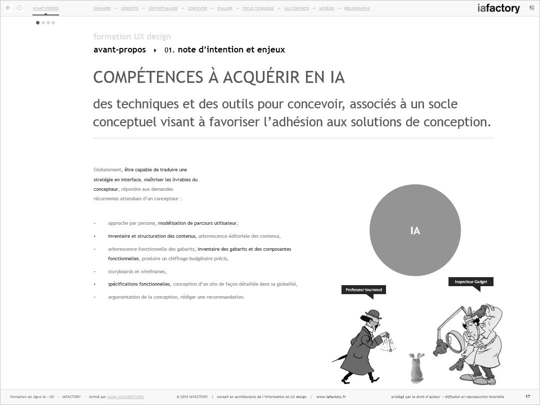 iafactory learn - compétences en conception