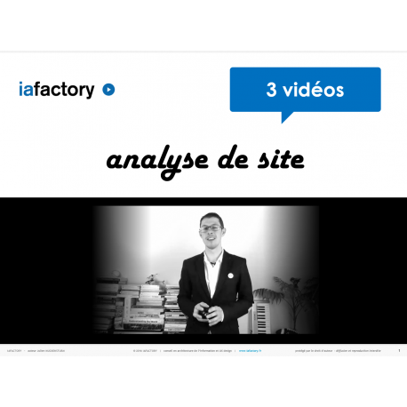 video analyse de site web  - audit ergo