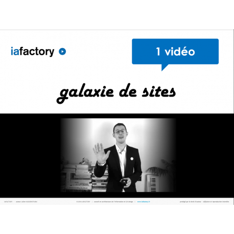 Vidéo architecture galaxie de site