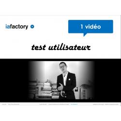 Vidéo test utilisateur + livrable