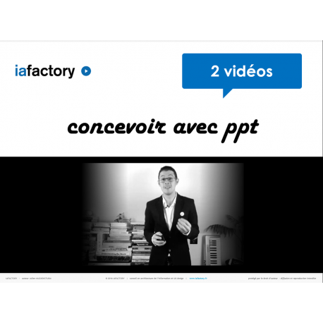 Vidéo concevoir avec PowerPoint - UX + wireframing