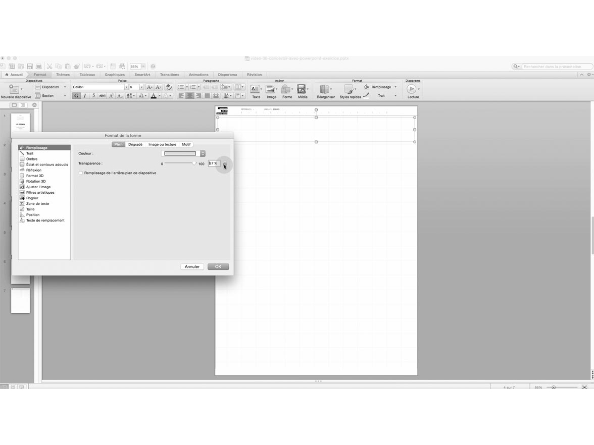 mode paysage powerpoint