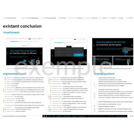 Analyse de l'existant, exemple d'analyse de l'existant, modèle d'analyse de l'existant