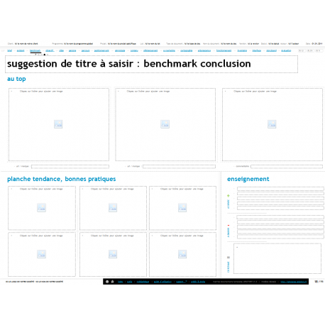 Benchmark, exemple de benchmark, modèle de livrable benchmark