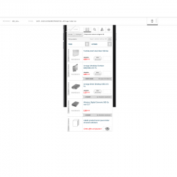 Wireframe site ecommerce mobile
