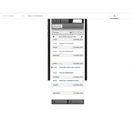 Wireframe application mobile travail collaboratif - IAFACTORY shop