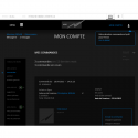 Wireframe espace client responsive