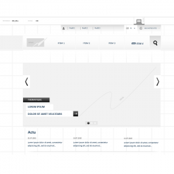 Wireframe site corporate editorial - IAFACTORY Shop